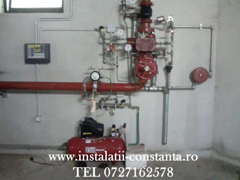 Instalatie statie hidranti uscata,drencer,clapeti splinkere incendiu